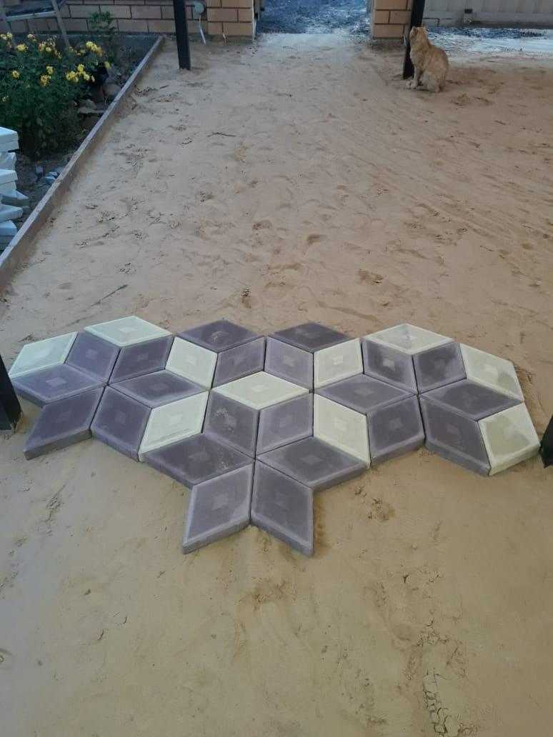 Укладка тротуарной плитки объект д. Назарово